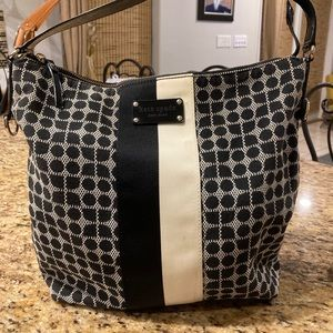 Kate Spade Classic Noel Black/Winter White Purse